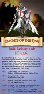 Knights of the King, Kid's Holiday Club