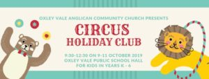 Circus holiday club banner